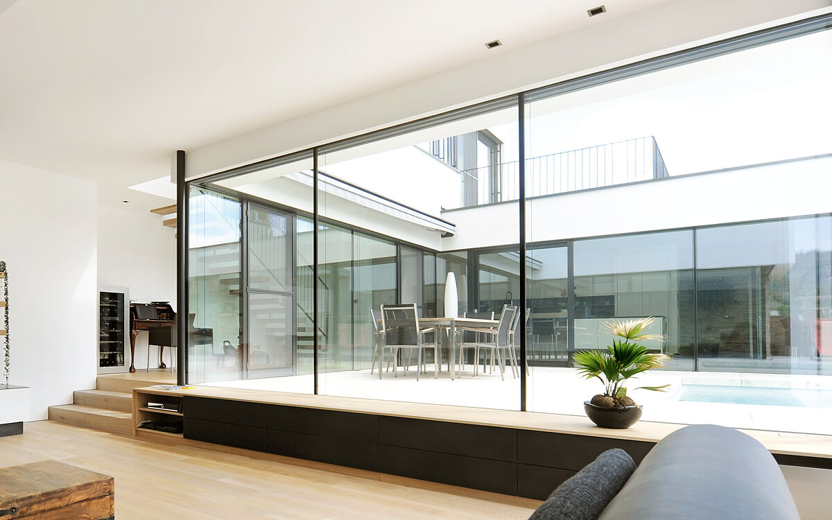 ganzglas fenster und schiebet ren von schubert. Black Bedroom Furniture Sets. Home Design Ideas