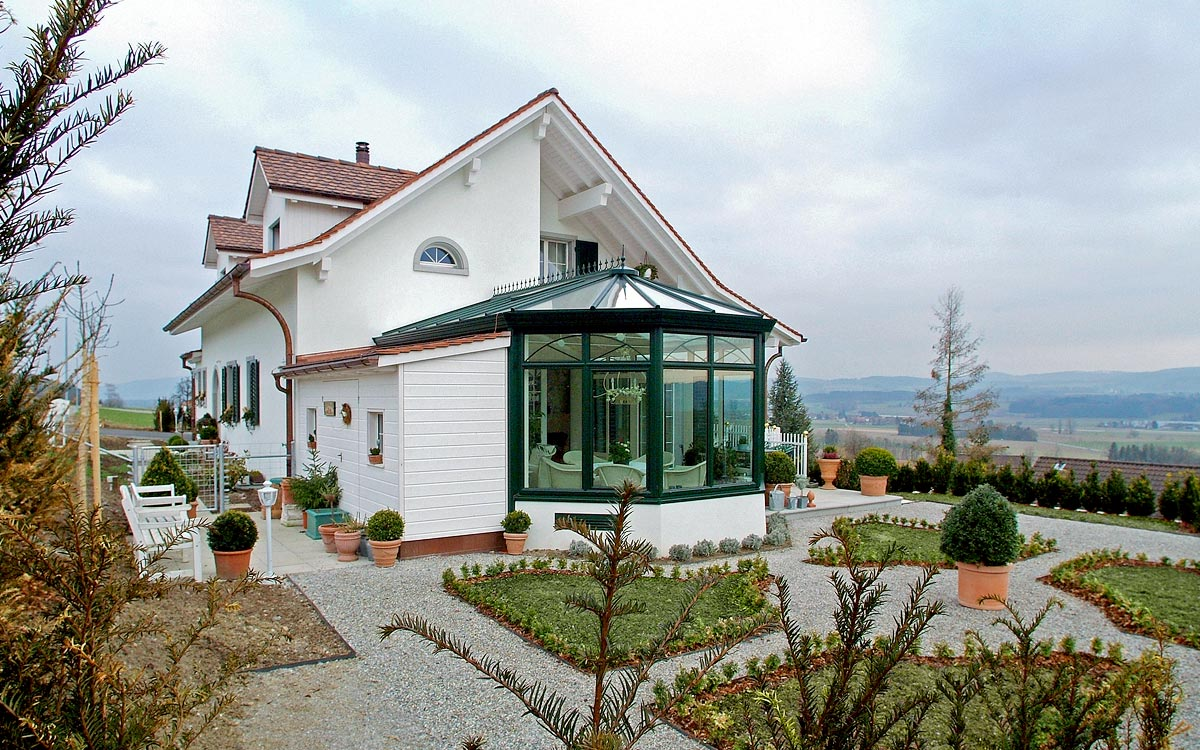 Gebauter wintergarten in frauenfeld in der schweiz - Viktorianischer wintergarten ...