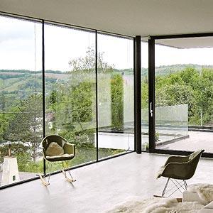 Rahmenlose Fenster ganzglas fenster und schiebetüren schubert